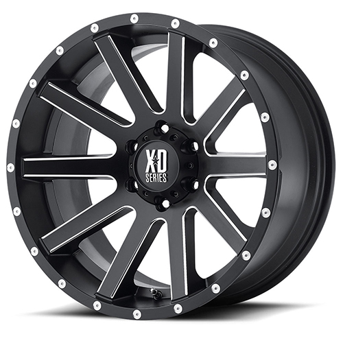XD Series by KMC Wheels XD818 Heist Satin Black Milled