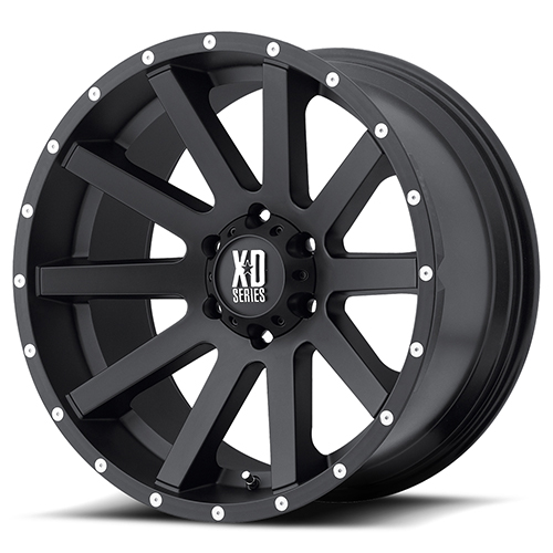 XD Series by KMC Wheels XD818 Heist Satin Black