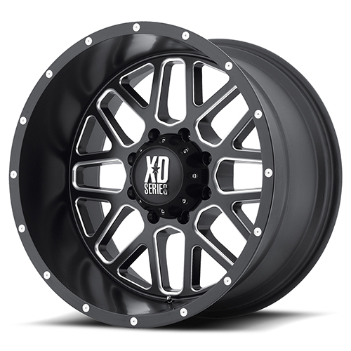 XD Series by KMC Wheels XD820 Grenade Satin Black Milled