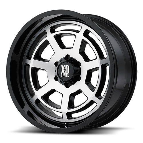 XD Series by KMC Wheels XD824 Gloss Black Machined Face