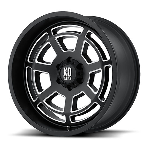 XD Series by KMC Wheels XD824 Satin Black Milled