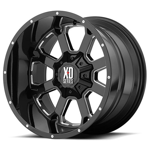 XD Series by KMC Wheels XD825 Buck 25 Gloss Black Milled