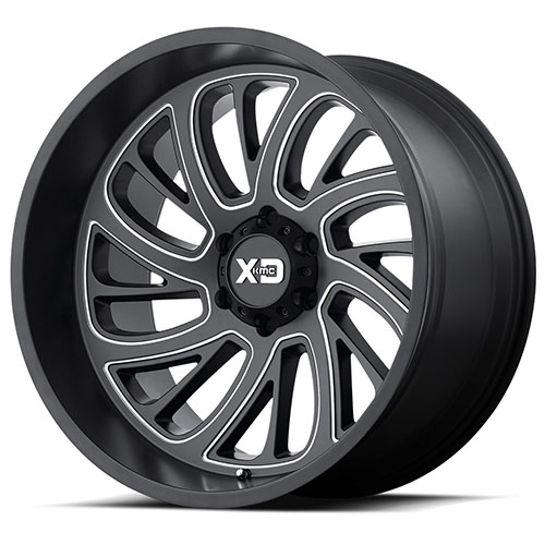 XD Series by KMC Wheels XD826 Surge Satin Black Milled