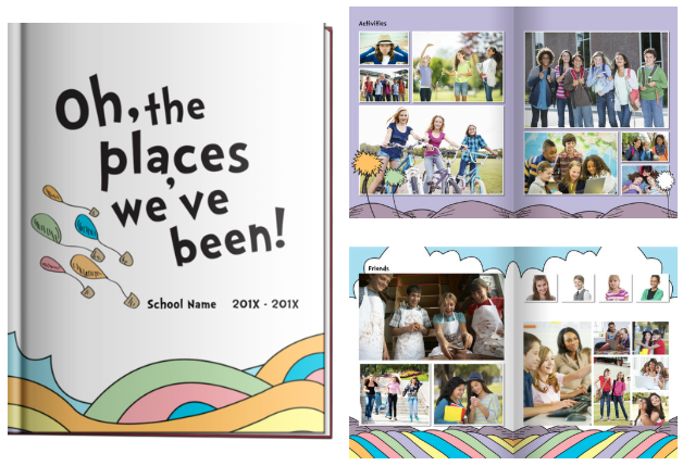 Oh The Places You'll Go Yearbook Theme
