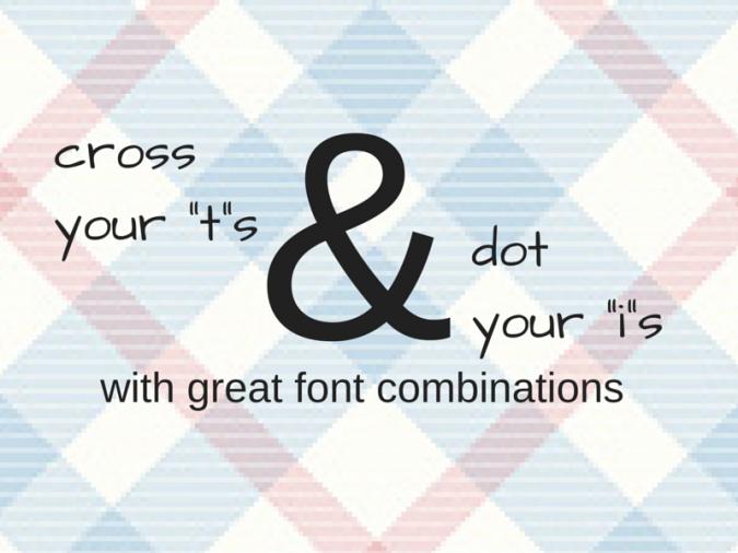 font-combinations