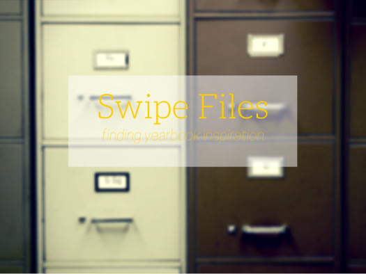 swipe file yearbook ideas