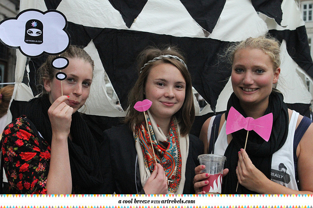 Incorporate props into your yearbook photobooth.