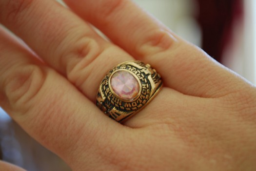 A school ring is an iconic piece of school iconography.