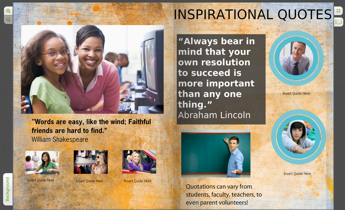 words to remember create a quotation page for your yearbook