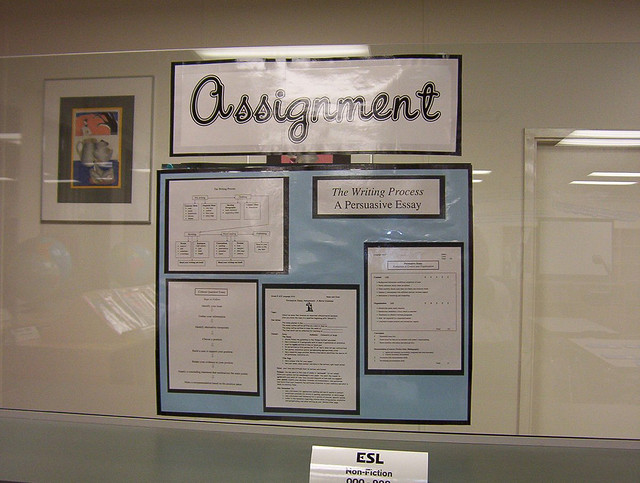 Create a system in your classroom to help organize assignments. Photo credit: Flickr CC user Enokson