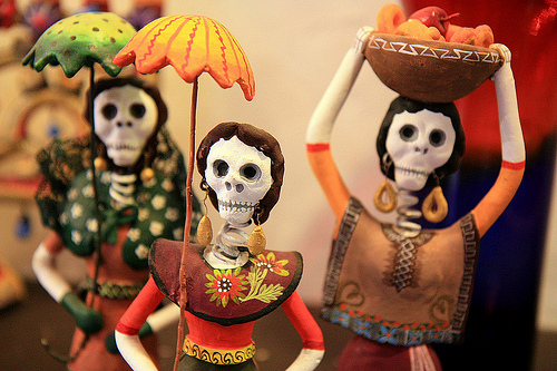 Celebrate your deceased loved ones with a Day of the Dead celebration. Photo credit: Flickr CC user Barney Moss