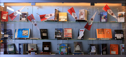 Yearbooks on display Photo credit: Flickr CC user: Skokie Public Library