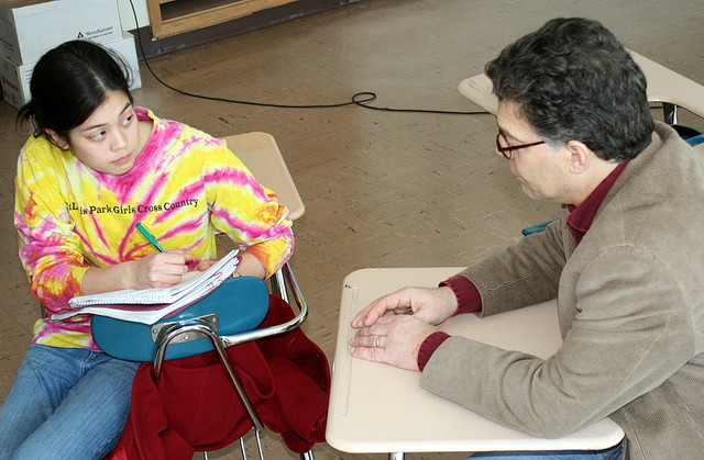 Ask your teachers hard-hitting questions. Photo credit: Flickr CC user: Al Franken For Senate