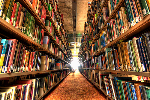 Will libraries and books soon be obsolete?  Photo credit: Flickr CC user Wonderlane