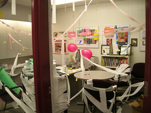 This principal's office didn't stand a chance against pranksters. Photo credit: Flickr CC user: Enokson