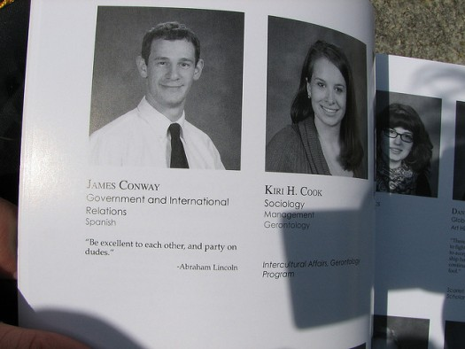 What do you want your yearbook quote to reflect about your personality?  Photo credit: Flickr CC user yatpay