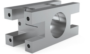 Destaco offers cross transition or T-Clamps that feature brackets that can mount flange style tool changer housing to both sides of the boom.