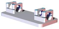 RMM - Single Extrusion 30 mm Robot Adaptor Mid Mount