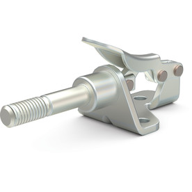 Destaco's 601-OSS Series straight line action clamps are compact models that feature a stainless steel external thread.