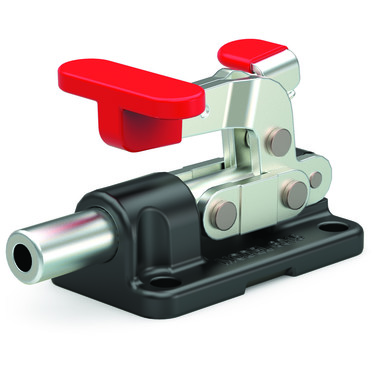 Destaco's 6015-R Series straight line action clamps are the smallest of the solid base straight line action clamps. They feature a compact design combined with Toggle Lock Plus capability.