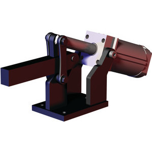 Destaco's 858 Series pneumatic toggle clamps feature hardened pins/bushing at all pivot points for long lifecycle, is sensor ready for round or T-slot style sensors, and boast a large clamping arm that can be easily modified to suit your application.