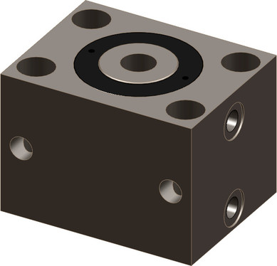 Hydraulic hollow piston blocks can solve many clamping problems because they can also be used as pulling cylinders due to the hollow piston and tie rod.