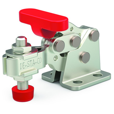 Destaco's 305-U Series horizontal hold down clamps feature a compact design suitable for use in confined spaces, flanged base, and U-bar.