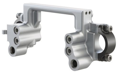Destaco's GRS Series of lightweight crossbar saddles feature machined aircraft aluminum and left-handed operation.