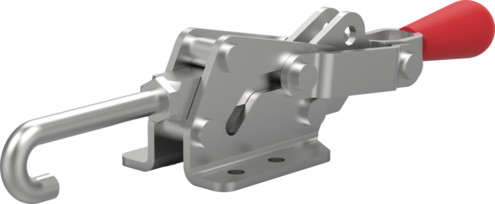 Destaco's 3051 Series pull action latch clamps feature controlled motion, single handed operation, and secure toggle locking action.
