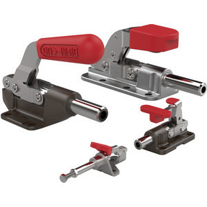 Destaco Straight-Line Action Clamps are manufactured in a variety of models to accommodate a wide range of load ratings (100–16,000lbf. [445N-71,2kN]).