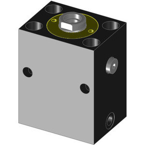 These hydraulic block cylinders are single acting with spring retraction. Due to their block shape design, these units can be used in a wide range of applications, e.g. clamping, punching, pressing, and aligning.