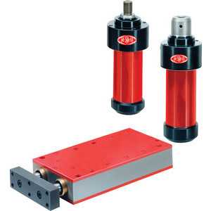 The Destaco Pneumatic Power Cylinder can provide over 13,000lbf (60kN) of rod force in a simple double acting pneumatics-only package. Operation is based on the wedge lever principle.