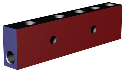 Destaco's CPI-MMB-4V2B-G Series block style manifolds feature an aluminum design.