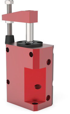 Destaco's 8316-LA Series block style, pneumatic swing clamps utilize a left-handed swing direction design and come equipped without a clamping arm.