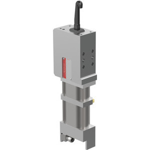 The 82P Series pneumatic pin clamps feature an enclosed and narrow design, with single-sided or double-sided clamping hook.