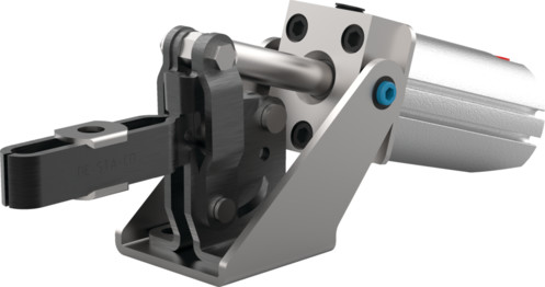 Destaco's 807-U Series pneumatic hold down clamps feature sensor ready for round or T-slot style sensors, built-in flow restriction that eliminates the need for external flow controls, and function as the pneumatic version of the Series 207 manual clamps.