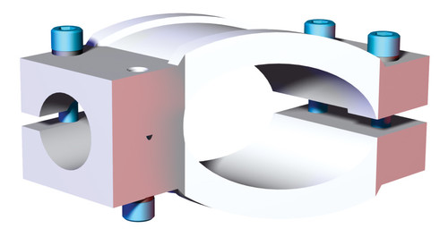 """Destaco's CPI-SEC-2515 Series of wrist brackets are designed to connect a 2.50"""" tube to a 1.50"""" tube."""