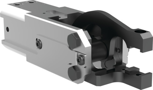 Destaco's 84A2-14 Series light-duty, modular cam-style pressroom gripper is self-locking and can be used vertically or horizontally.