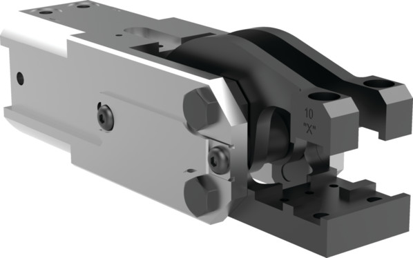 Destaco's 84A2-11 Series light-duty, modular cam-style pressroom gripper is self-locking and can be used vertically or horizontally.