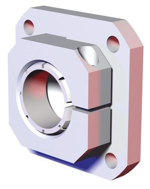 Destaco's CPI-RJM-78F-40S Series of spherical flange end mounts are designed 40 mm tubes.