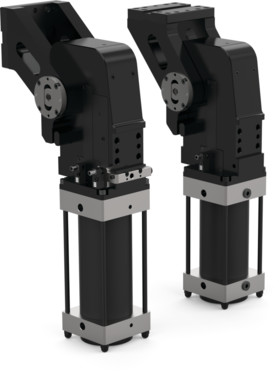DESTACO's RCM and RFM Series toggle action mechanism delivers reliable power to position large fixtures in place for welding and assembly applications, while also offering the flexibility of in-the-field opening angle adjustment.