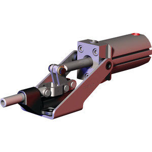 Destaco's 803 Series pneumatic toggle clamps feature sensor ready for round or T-slot style sensors and function as the pneumatic version of Destaco's Model 603 manual straight line action clamp.