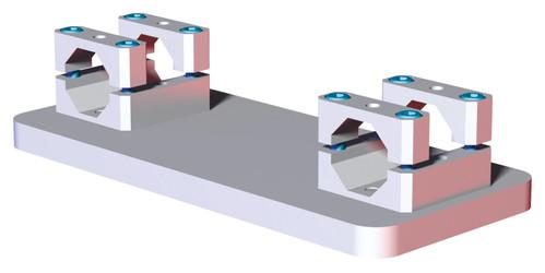 RMM - Double Extrusion 30mm Robot Adaptor Mid Mount