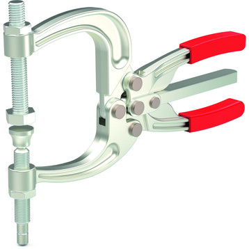 Destaco's 463 Series squeeze action clamps are made from drop forged alloy steel and feature a two-way trigger release for fast and easy opening.