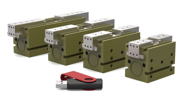 Destaco's DPH-10-3 Series of parallel grippers are designed for CNC machining applications, chip/dry particulate harsh environments, and non-synchronous operations.
