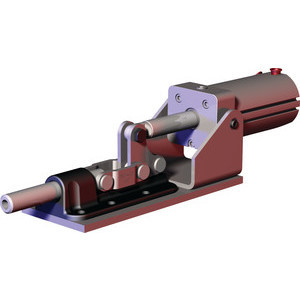 Destaco's 830 Series pneumatic toggle clamps feature built-in flow restriction that eliminates the need for external flow controls, is sensor ready for round or T-slot style sensors, and function as the pneumatic version of the Model 630 manual straight line action clamps.