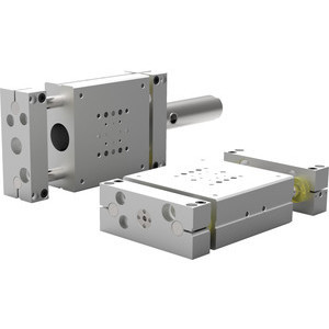 These highly configurable internally powered linear base slides reduce the mounting footprint over externally powered slides by up to 50%.