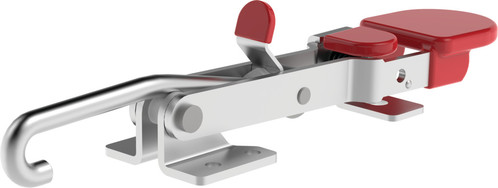 Destaco's 351-R Series pull action latch clamps are equipped with patented thumb control lever for one handed operation, threaded J-hook, and Toggle Lock Plus capability.
