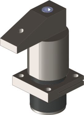 Destaco's hydraulic swing clamps swivel right, opposed to the 727D Series that swivels left, and are particularly designed for applications which require high clamping forces and easy loading of workpieces in confined spaces.