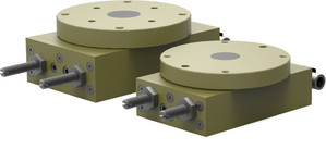 Destaco's RR-56 Series of heavy duty, flange output rotary actuators feature a low profile design and bearing supported turn table.